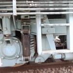 Old steam train wheel — Stock Photo