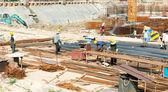 Bina inşaat işçileri ile — Stok fotoğraf