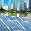 Ecological energy renewable solar panel plant — Stock Photo
