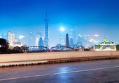Beautiful shanghai skyline at night,China — Stock Photo