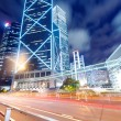 Hong Kong night view with car light — Stock Photo #32856585