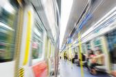 Pessoas no trem do metrô — Foto Stock