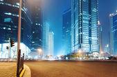 La visión de la noche en shanghai — Foto de Stock