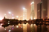 The night view of the lujiazui financial centre — Stock Photo