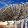 Satellite dish antennas — Foto Stock