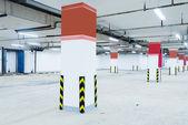 Empty underground parking lot area — Stock Photo