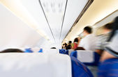 Interior of a commercial airplane — Stock Photo