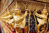 Ancient Decoration At Wat Prakaew — Stock Photo