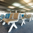 Waiting chair in the airport — Stock Photo