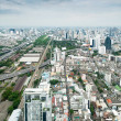Panorama of Bangkok expressway from Baiyoke Sky Hotel. Thailand — Photo