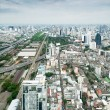 Panorama of Bangkok expressway from Baiyoke Sky Hotel. Thailand — Stock Photo
