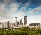 Aerial view of chinese city,shenzhen — Stock Photo