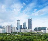 Luftaufnahme der chinesischen stadt shenzhen — Stockfoto