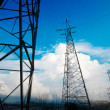 High-voltage tower sky background — Foto de Stock