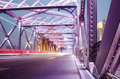 Natt trafikljus — Stockfoto
