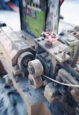 Industrial machines in a old factory — Stock Photo