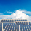 Solar energy panels with blue sky — Stock Photo #37470927