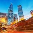 Hong Kong city at night — Stock Photo