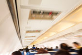 Commercial aircraft interior — Stock Photo