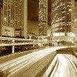 Hong Kong night view with car light — Stock Photo #39407535