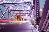 Feux de circulation de nuit — Photo