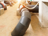 Water pipe in a sewage treatment plant — Foto de Stock