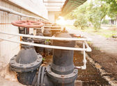 Water pipe in a sewage treatment plant — Stock Photo