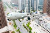 El avión de la ciudad — Foto de Stock