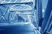ночь светофоров — Стоковое фото