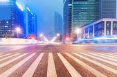 Los senderos de luz — Foto de Stock