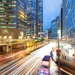 Hong Kong night view with car light — Stock Photo #45963381