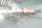 Bench in the shanghai pudong airport — Stock Photo