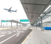 The scene of T3 airport building in beijing china. — Stock Photo