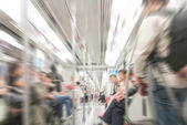 People in subway train — Stock Photo