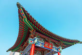 Beautiful asian temple on the blue sky background — Stock Photo