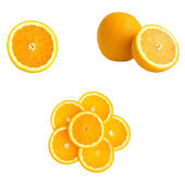 Page of oranges — Stock Photo