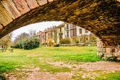 Un bellissimo giardino in ezcaray — Foto Stock