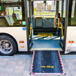 Access ramp for disabled persons and babies in a bus — Stock Photo