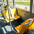 Seats of an articulated bus in Spain — Stock Photo
