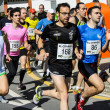 Several runners participating in the race of Murgia (Alava, Spain) — Stock Photo