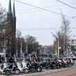 Stock Photo: Motorcycle on street in amsterdam (Holland, Europe)