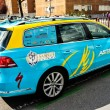 The car of the Astana cycling team — 图库照片
