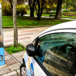 An electric car charging the batter — Stock Photo