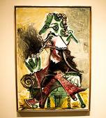 A picture in the Artium museum Mousquetaire à la pipe by Pablo Picasso, 1966 — Stock Photo