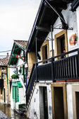 Typical houses in the old port of Getxo (Vizcaya, Spain) — Stock Photo