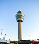 The control tower of Amsterdam-Schiphol (Holland, Europe) — Stock Photo