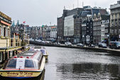 Street of Amsterdam (Holland, Europe) — Stock Photo