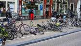A bicycle lying on a street in amsterdam (Holland, Europe) — Stock Photo