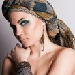 Stock Photo: Turkish womin turban. Fashion.