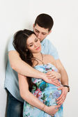 Portrait of happy couple expecting a baby. — Stock fotografie